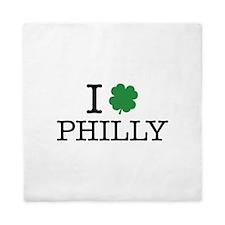 I Shamrock Philly Queen Duvet