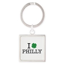I Shamrock Philly Square Keychain