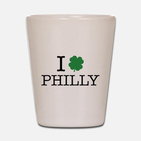 I Shamrock Philly Shot Glass