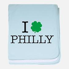 I Shamrock Philly baby blanket