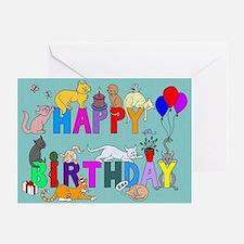 Birthday Cats Cards (Pk of 10)