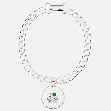 I Shamrock Drunk Girls Charm Bracelet, One Charm