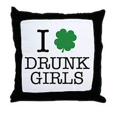 I Shamrock Drunk Girls Throw Pillow