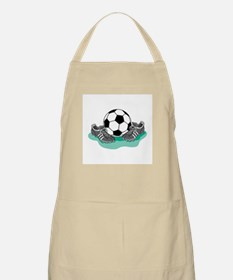 Soccer Ball and Cleats BBQ Apron