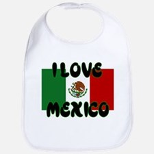 I LOVE MEXICO SHIRT TEE SHIRT Bib