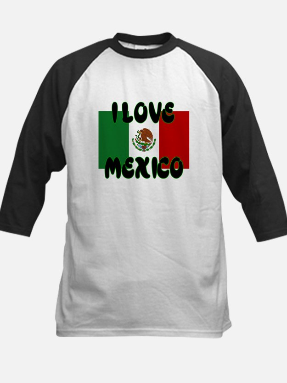 I LOVE MEXICO SHIRT TEE SHIRT Kids Baseball Jersey