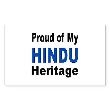 Proud Hindu Heritage Rectangle Sticker