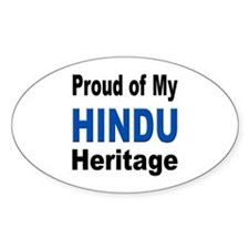 Proud Hindu Heritage Oval Decal