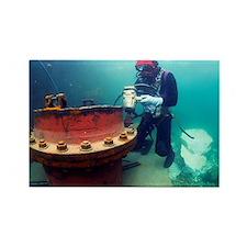 Commercial diver - Rectangle Magnet (10 pk)