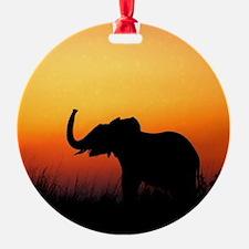 Elephant at Sunset Ornament