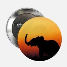 """Elephant at Sunset 2.25"""" Button (10 pack)"""