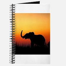 Elephant at Sunset Journal