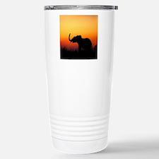 Elephant at Sunset Travel Mug