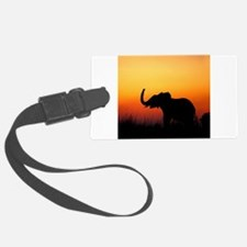 Elephant at Sunset Luggage Tag