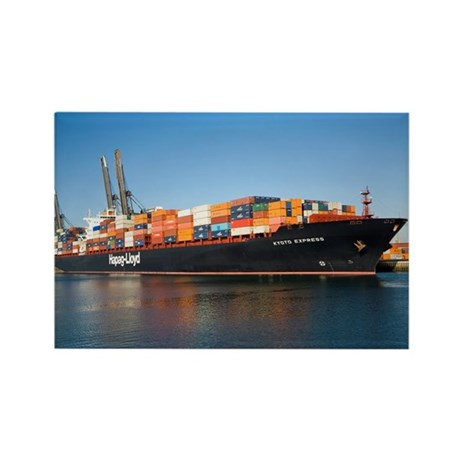 Container ship - Rectangle Magnet (10 pk)