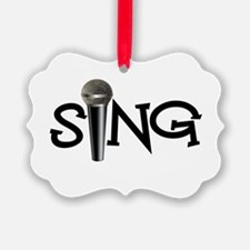 Sing with Microphone Ornament