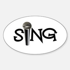 Sing with Microphone Decal