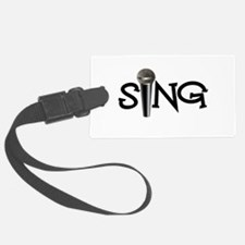 Sing with Microphone Luggage Tag