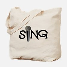 Sing with Microphone Tote Bag