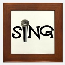 Sing with Microphone Framed Tile