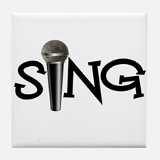 Sing with Microphone Tile Coaster