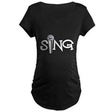 Sing with Microphone Maternity T-Shirt