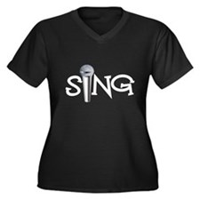 Sing with Microphone Plus Size T-Shirt