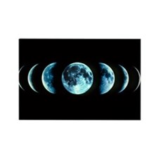 phases of the Moon - Rectangle Magnet (10 pk)