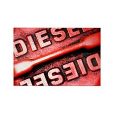 Diesel fuel cap - Rectangle Magnet (10 pk)