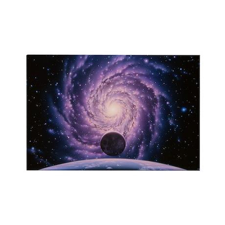Milky Way galaxy - Rectangle Magnet (10 pk)