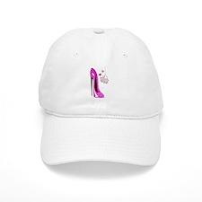 Flying Pink Pig and Stiletto Shoe Art Baseball Baseball Cap