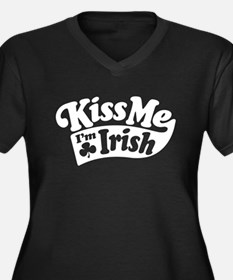Kiss Me Im Irish Plus Size T-Shirt