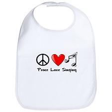 Peace, Love, Singing Bib