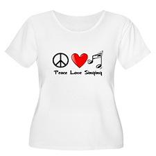 Peace, Love, Singing Plus Size T-Shirt
