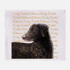 Curly Coated Retriever Throw Blanket