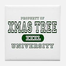 Xmas Tree University Tile Coaster