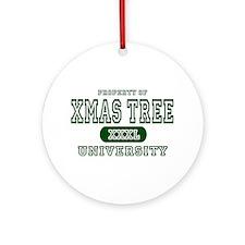 Xmas Tree University Ornament (Round)