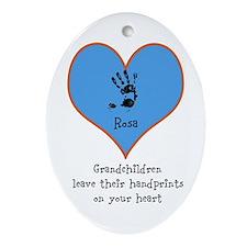 handprints on your heart - 1 grandchild Ornament (