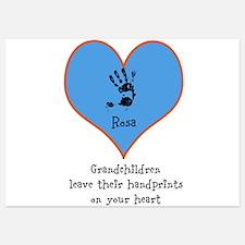 handprints on your heart - 1 grandchild Invitations
