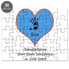 handprints on your heart - 1 grandchild Puzzle