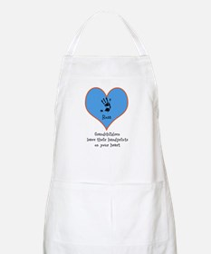 handprints on your heart - 1 grandchild Apron