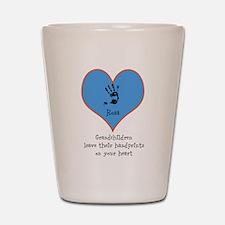 handprints on your heart - 1 grandchild Shot Glass