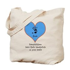 handprints on your heart - 1 grandchild Tote Bag