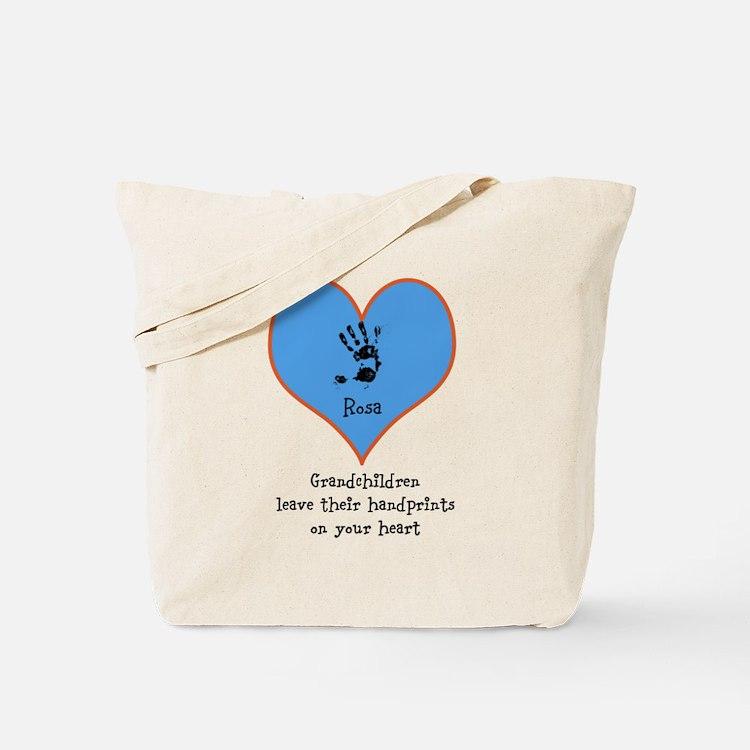 handprints on your heart - 1 grandchild Tote Bag