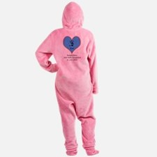 handprints on your heart - 1 grandchild Footed Pajamas