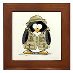 Safari Penguin Framed Tile
