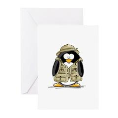 Safari Penguin Greeting Cards (Pk of 10)