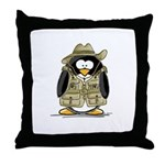 Jungle Safari Penguin Throw Pillow