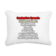 GRADUATION SPEECH Rectangular Canvas Pillow