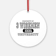 3 Wisemen University Ornament (Round)